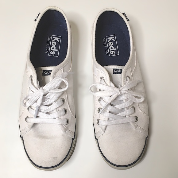 Keds coursa white lace up sneakers size 6.5